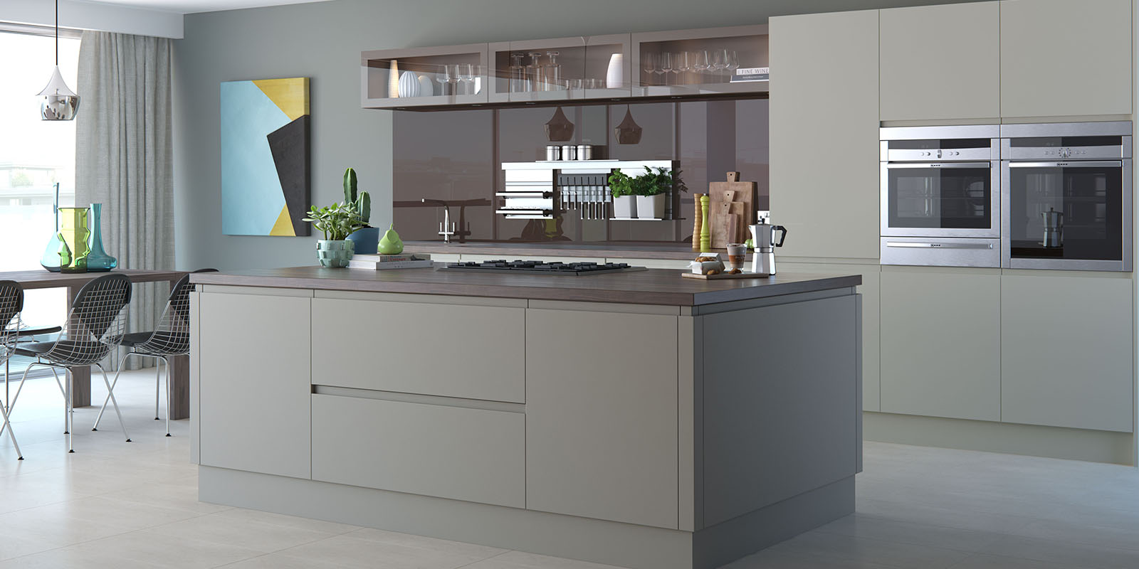 kitchens and much more bespoke kitchen design and fitting in a handle less kitchen